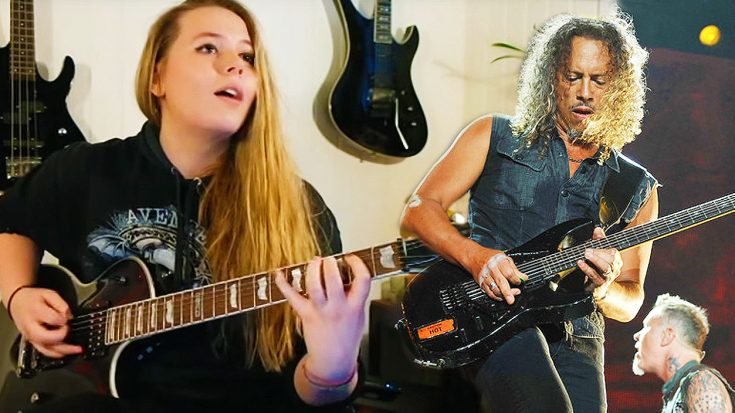 "Norwegian Girl Shows Off Unbelievable Skill On Guitar With This Amazing ""Master of Puppets"" Cover! 