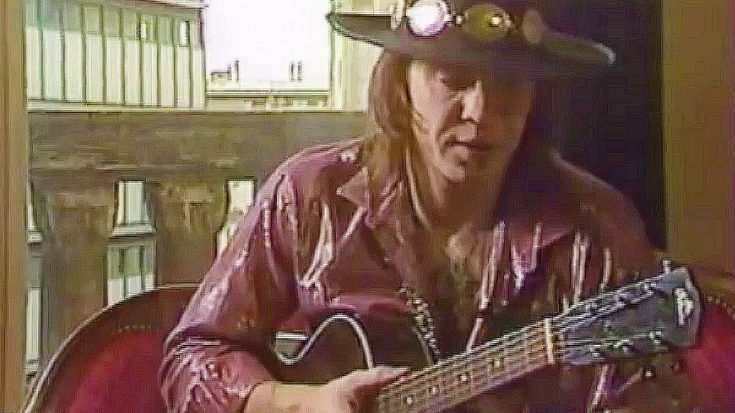 Lost Footage Of Stevie Ray Vaughan Shredding An Acoustic Guitar Surfaces, And We Can't Stop Watching | Society Of Rock Videos