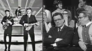 "Hilarious Video Shows Stephen Colbert ""Present"" At The Beatles' Iconic Ed Sullivan Show Appearance!"