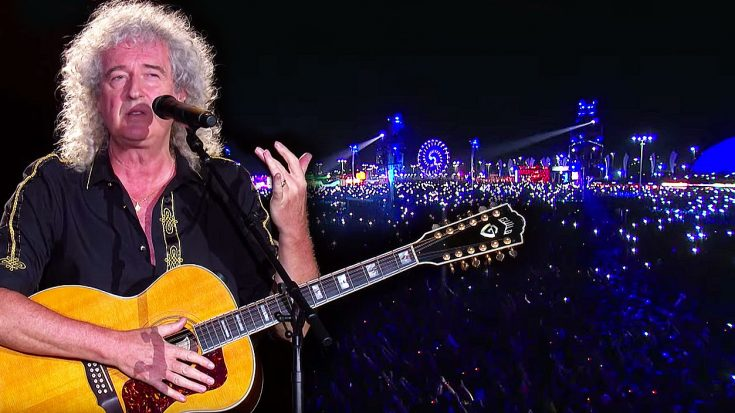 Brian May Leads 80,000+ People In Epic Sing-Along Of 'Love Of My Life' With A Special Surprise At The End! | Society Of Rock Videos
