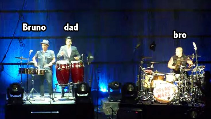 Bruno Mars Performs With His Dad In Puerto Rico And We Love It | Society Of Rock Videos