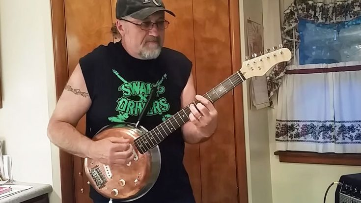 Swamp Rocker Shreds Hot Licks On Frying Pan Guitar – This Ain't Your Grandmama's Cookware! | Society Of Rock Videos