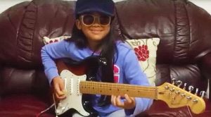 """Little Girl Plugs In Guitar, Proceeds To Shred The Hell Out Of Ritchie Blackmore's """"Highway Star"""" Solo"""