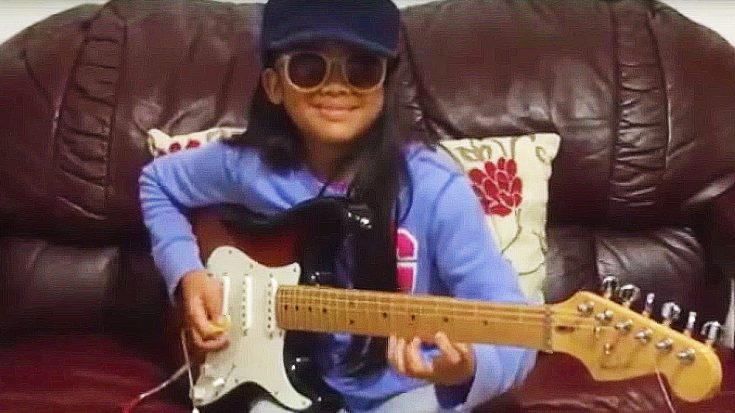 "Little Girl Plugs In Guitar, Proceeds To Shred The Hell Out Of Ritchie Blackmore's ""Highway Star"" Solo 