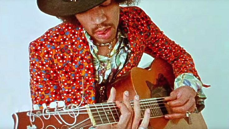 In Just 1 Take, Filmmaker Catches Jimi Hendrix Playing Incredible 12-String Acoustic Jam Like No One Else | Society Of Rock Videos