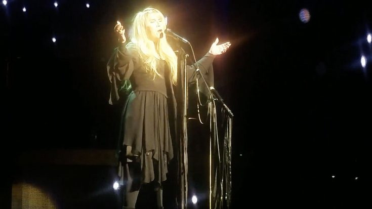 "Camera Catches Stevie Nicks Melting An Audience's Hearts With Latest Performance Of ""Landslide"" 