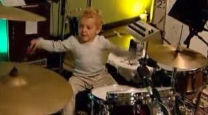 Footage Of Lars Ulrich's Baby Son Playing Drums Surfaces, And It Doesn't Get Any Cuter Than This