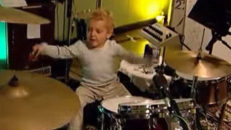 Footage Of Lars Ulrich's Baby Son Playing Drums Surfaces, And It Doesn't Get Any Cuter Than This | Society Of Rock Videos