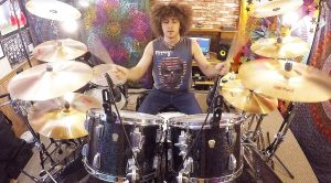 """Don Brewer's """"Son"""" Tackles GFR's """"We're An American Band"""" On Drums, And We Can't Stop Watching!"""