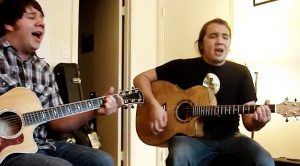 Two Friends Are Filmed Singing And Playing Guitar, But What They End Up Writing Is Breathtaking…