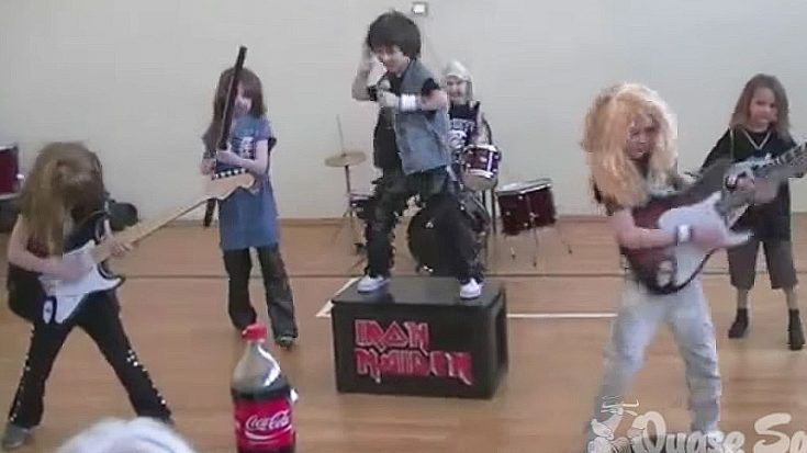 Adorable Little Kids Recreate An Iron Maiden Concert, And It's Too Awesome For Words | Society Of Rock Videos