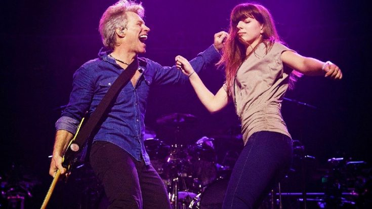 Jon Bon Jovi Dances Onstage With His Daughter Stephanie, And It's Too Damn Cute For Words | Society Of Rock Videos
