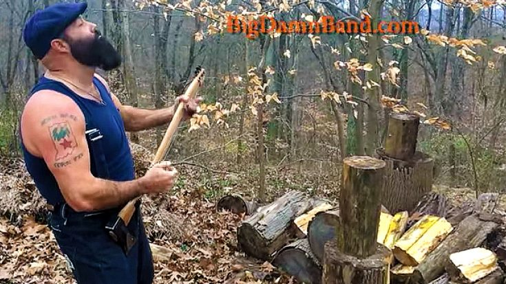 Lumberjack Guitarist Shreds Razor Sharp Licks With Axe Guitar | Society Of Rock Videos