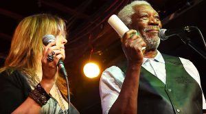 Caught On Camera: Morgan Freeman Shocks A Crowd When He Gets Up On And Starts Singing!