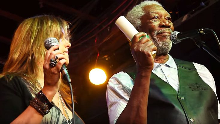 Caught On Camera: Morgan Freeman Shocks A Crowd When He Gets Up On And Starts Singing! | Society Of Rock Videos