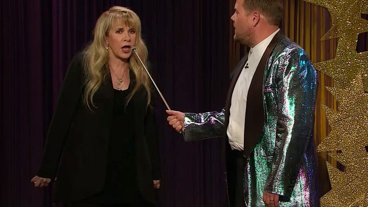 James Corden Talks Stevie Nicks Into Sharing Her Hidden Talent, And When She Does? Iconic! | Society Of Rock Videos