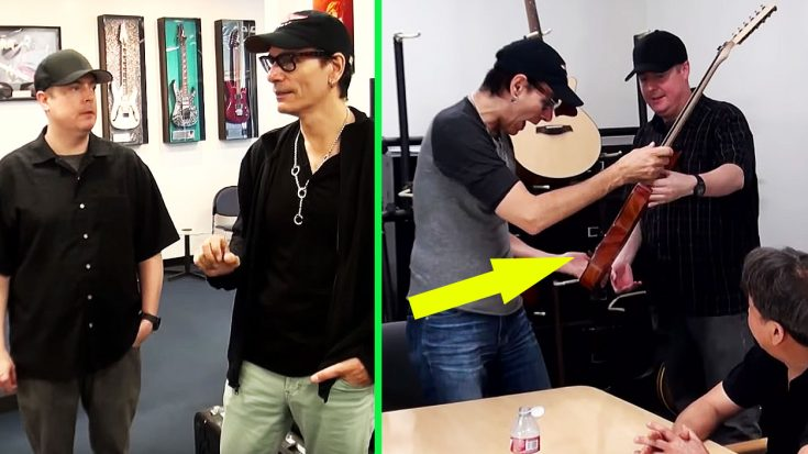 Steve Vai Asked These Guys To Build Him A Guitar, But What He Ended Up With Left Him Stunned | Society Of Rock Videos