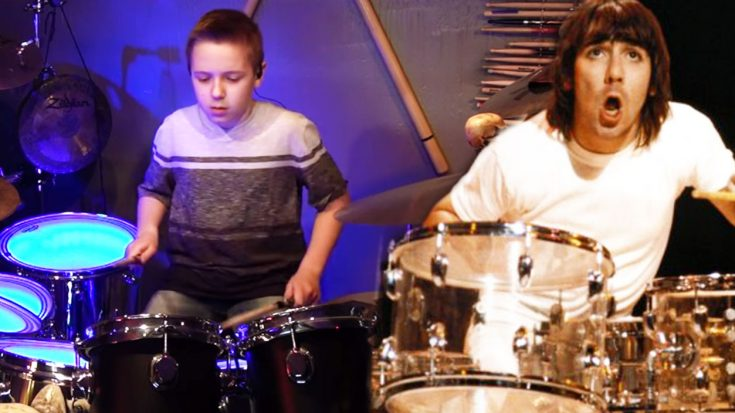 10-Year Old Avery Channels Keith Moon, And Rips A Ridiculous Drum Solo In Epic Who Tribute!
