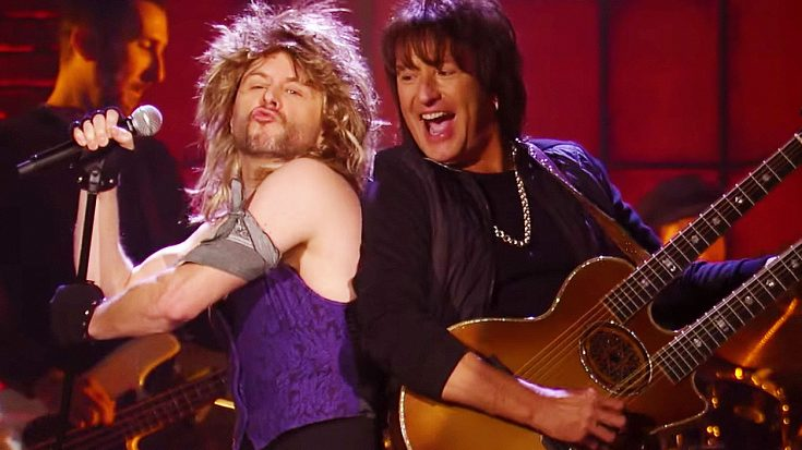 Comedian Joins Ritchie Sambora On Stage For A Hilarious, Unforgettable Performance Of 'Wanted Dead Or Alive'! | Society Of Rock Videos