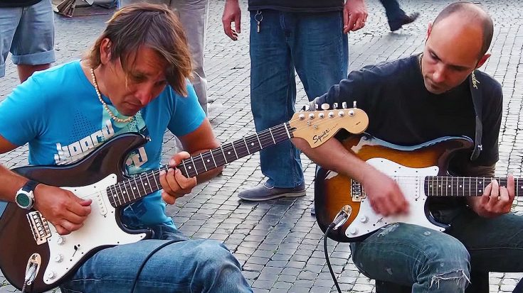 "Italian Street Performers Halt Pedestrians With Masterful Cover Of Dire Strait's ""Sultans of Swing""! 