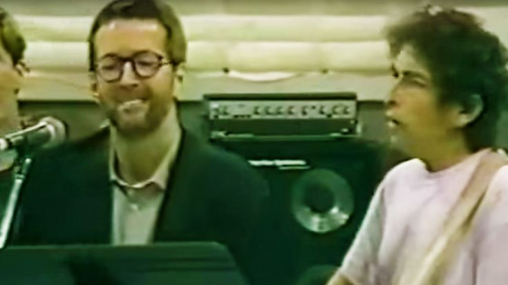 Rare Studio Footage Leaks Of Bob Dylan, Eric Clapton and Other Legends Rehearsing This All-Time Classic! | Society Of Rock Videos