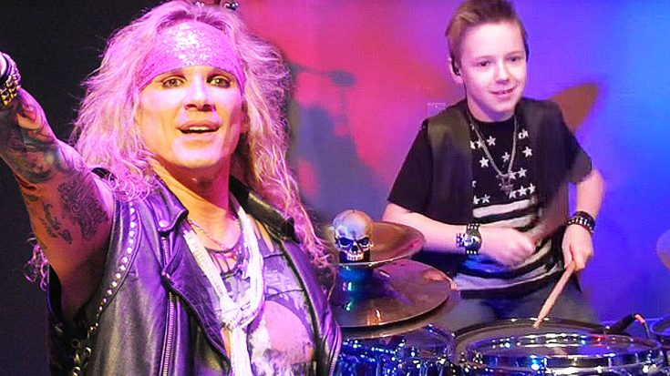 10 Year Old Joins Steel Panther On Stage For Fiery, Rockin' Cover Of Van Halen's 'Hot For Teacher'!