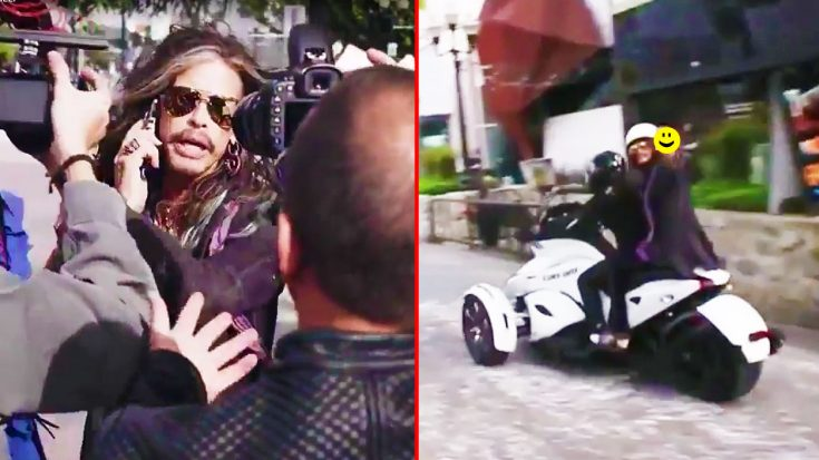 Caught On Camera: Paparazzi Harass Steven Tyler, But Luckily This NASCAR Driver Swoops In To Save Him! | Society Of Rock Videos