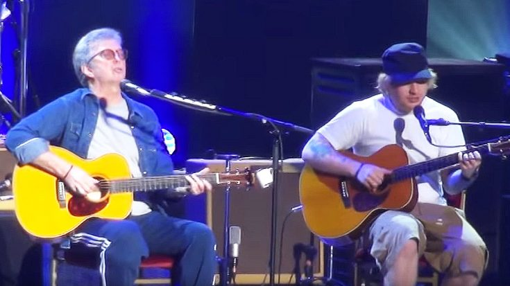 "Eric Clapton Brings His Friend Ed Sheeran On Stage For Breathtaking Duet Of ""I Will Be There""! 