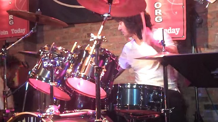 "Not Even A Lost Drumstick Is Enough To Throw Michael Cartellone Off His ""Gimme Three Steps"" Jam! 