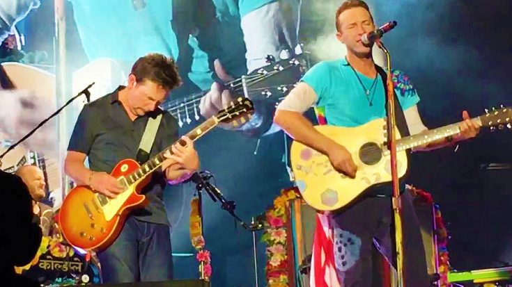 Michael J. Fox And Chris Martin Go Back To The Future With This Unforgettable 'Johnny B. Goode' Jam! | Society Of Rock Videos