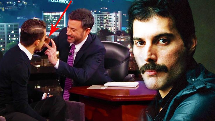 Jimmy Kimmel Puts A Mustache On The Actor Who Will Play Freddie Mercury, And The Resemblance Is Uncanny! | Society Of Rock Videos