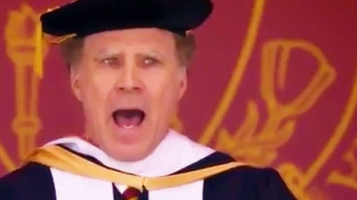 Will Ferrell Hilariously Serenades USC Graduates To 'I Will Always Love You,' And It's The Best Thing Ever!