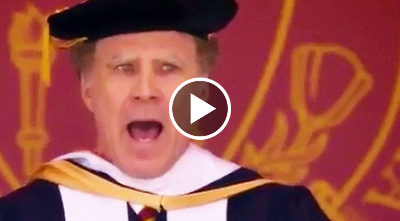 Will Ferrell Hilariously Serenades USC Graduates To 'I Will Always
