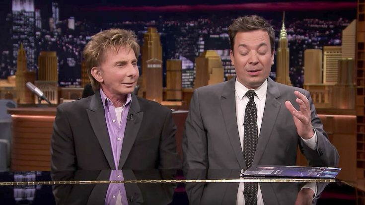 Jimmy Fallon Interviews Barry Manilow Behind A Piano And Suddenly Joins Him For Impromptu Duet | Society Of Rock Videos