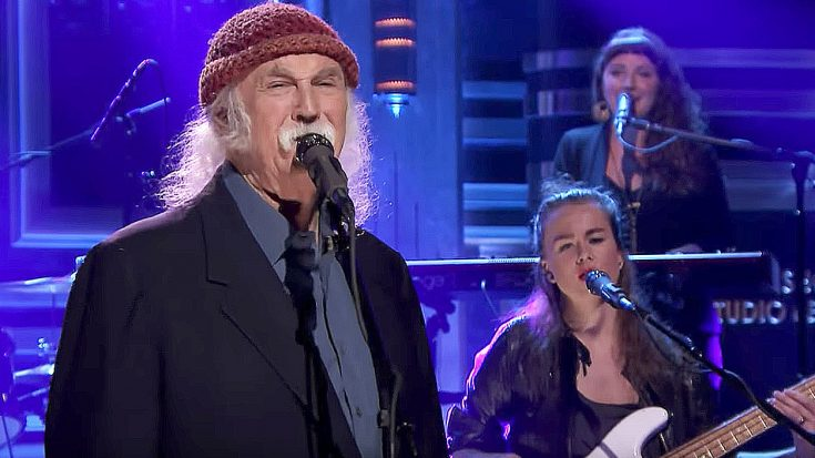 David Crosby Crashes Late Night TV With A Brand New Song That We Just Can't Stop Listening To! | Society Of Rock Videos