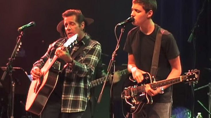 "Flashback To When Glenn Frey And His Son, Deacon, Tore Up Eric Clapton's ""Change The World"" Together 