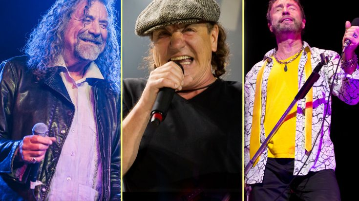 Brian Johnson Joins Robert Plant, Paul Rodgers For Triumphant Post-Hearing Loss Return To Stage | Society Of Rock Videos