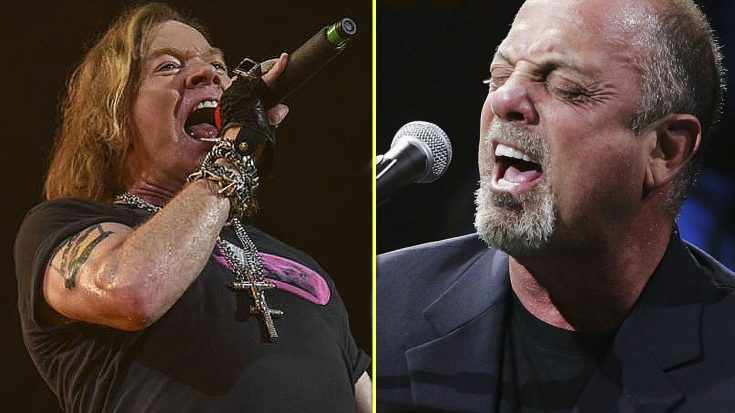 "Billy Joel Ditches His Piano, Picks Up Guitar And Joins Axl Rose For Surprise ""Highway To Hell"" Jam 
