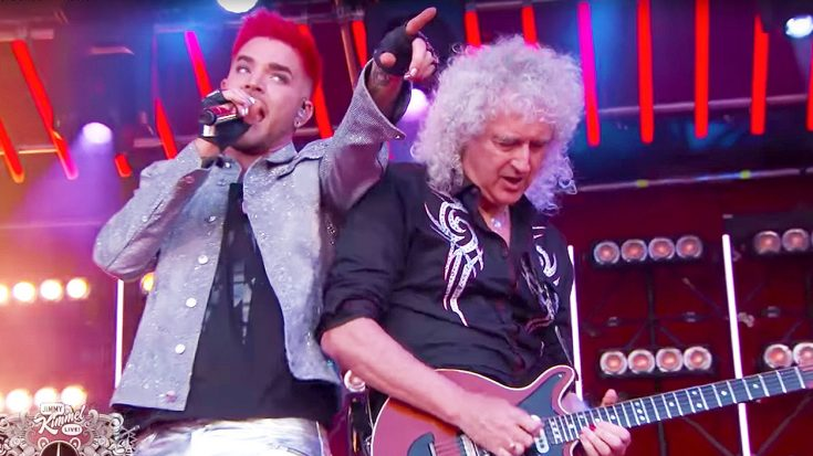 Queen And Adam Lambert's Electric 'Don't Stop Me Now' Performance on Kimmel Will Give You Chills!   Society Of Rock Videos