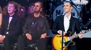 Maroon 5 Perform 'Ticket To Ride' In Front Of Paul And Ringo, And They Can't Help But Sing Along!