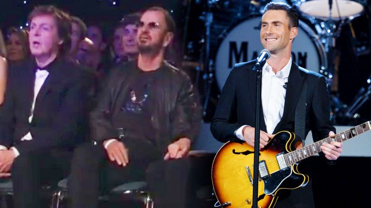 Maroon 5 Perform 'Ticket To Ride' In Front Of Paul And Ringo, And They Can't Help But Sing Along! | Society Of Rock Videos