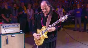 Carlos Santana Shreds Incredible National Anthem Before The NBA Finals, And The Crowd Goes Insane!