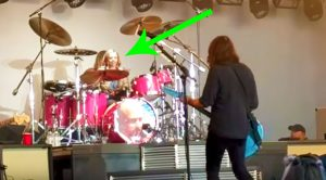 Proud Papa Dave Grohl Invites 8-Year Old Daughter On Stage To Jam This Queen Classic On Drums!