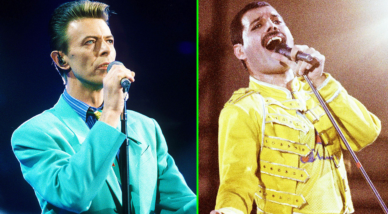 Image result for freddy mercury and david bowie together photos