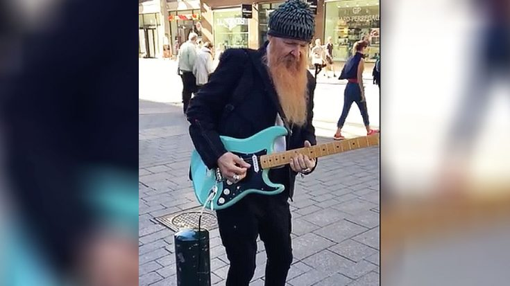 Billy Gibbons Is Spotted Playing Guitar As A Street Performer – You Have To See It To Believe It | Society Of Rock Videos