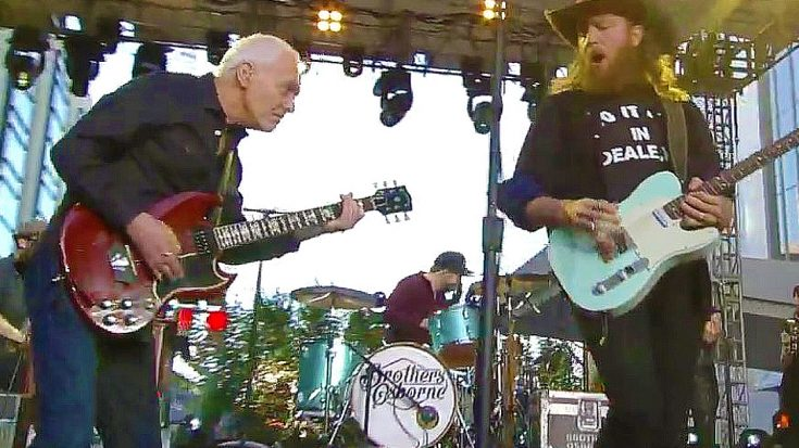 It's A Boot Stompin' Good Time As Peter Frampton Joins Brothers Osborne For Epic CMT Awards Jam | Society Of Rock Videos