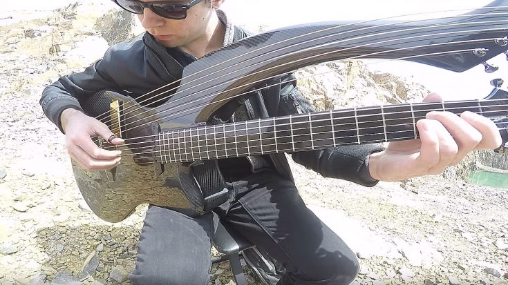 "Guitarist Uses Harp-Guitar To Put An Enchanting Twist on Metallica's ""Unforgiven"" 