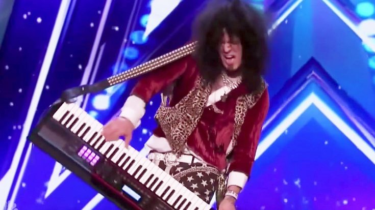 80's Rocker Steps On America's Got Talent Audition Stage, And Wows Judges With High Octane Keytar Solo! | Society Of Rock Videos