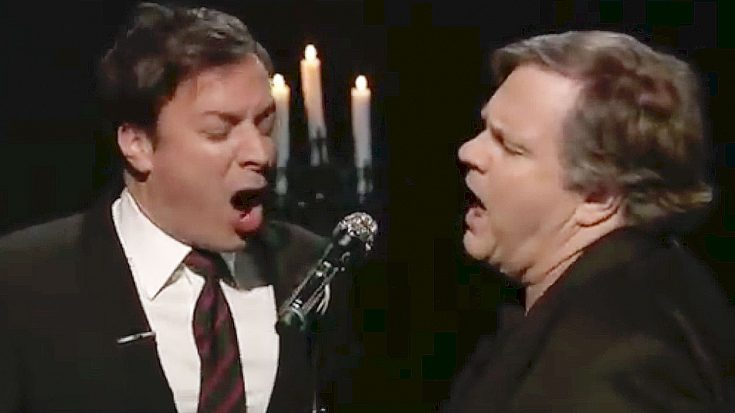 """Flashback To When Meat Loaf Teamed With Jimmy Fallon For Epic Duet Of """"Ode To Bagel Bites"""" 