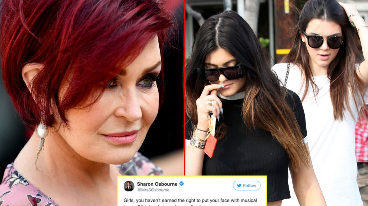 It Only Took 7 Words For Sharon Osbourne To Deliver An Epic Smackdown On Kendall And Kylie Jenner | Society Of Rock Videos